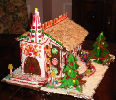 Country Chapel Gingerbread House