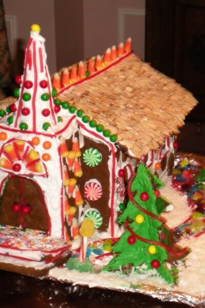 How We Made Our Country Chapel Gingerbread House