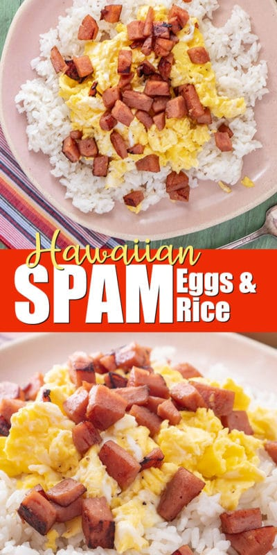 SPAM eggs and rice recipe from Hawaii