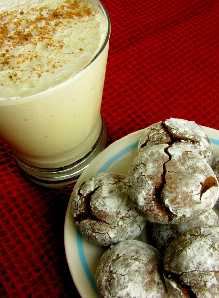 Vietnamese Coffee Eggnog Smoothie and Vietnamese Coffee Chocolate Cookies