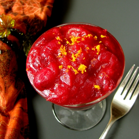 Homemade Cranberry Sauce with Satsuma Zest