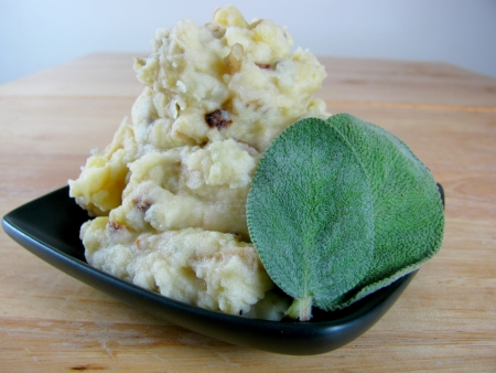brown butter sage mashed potatoes