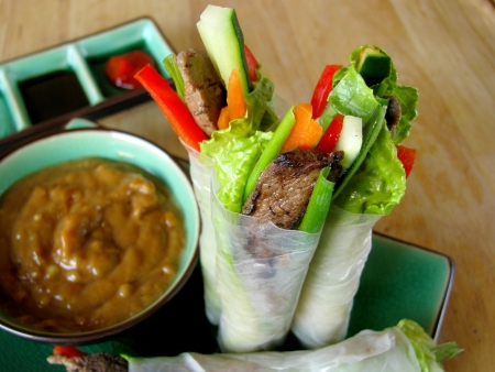 Summer Roll Recipe with Vietnamese Steak