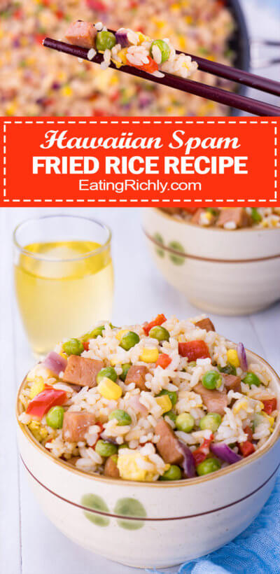 spam fried rice recipe pin