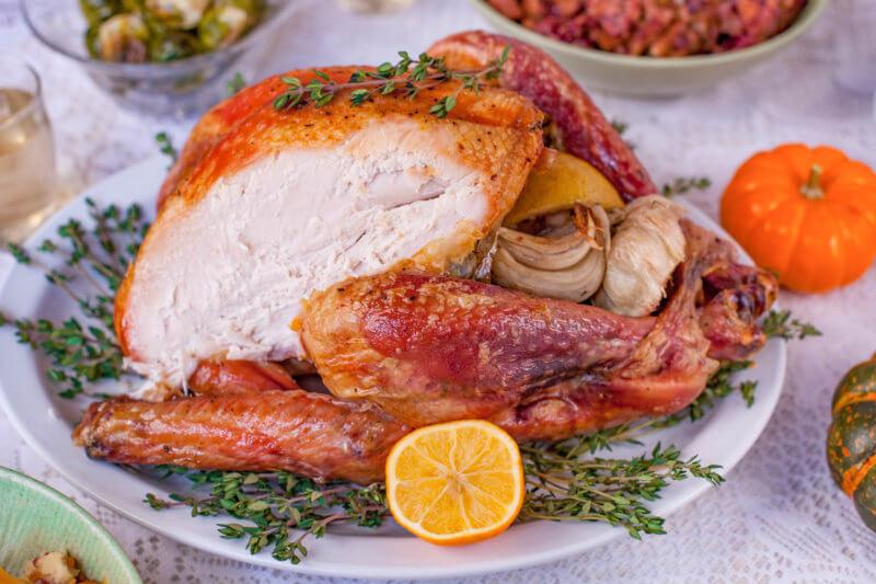 Carved Roast Turkey