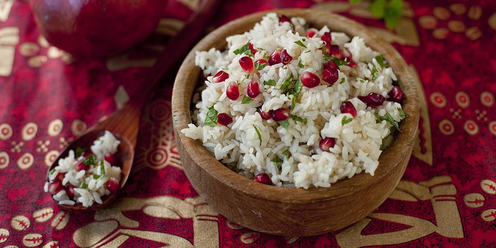 Pomegranate Saffron Rice Recipe - Eating Richly