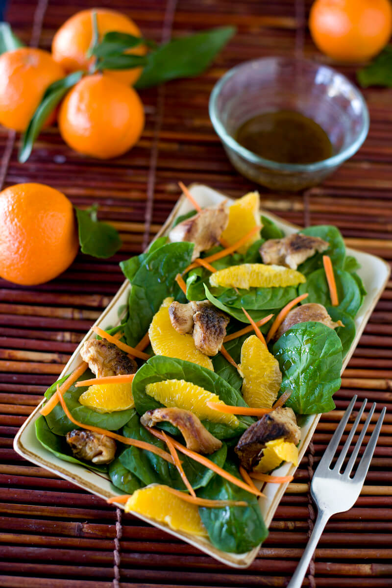 A fast and easy Asian chicken salad recipe that's actually good for you! EatingRichly.com