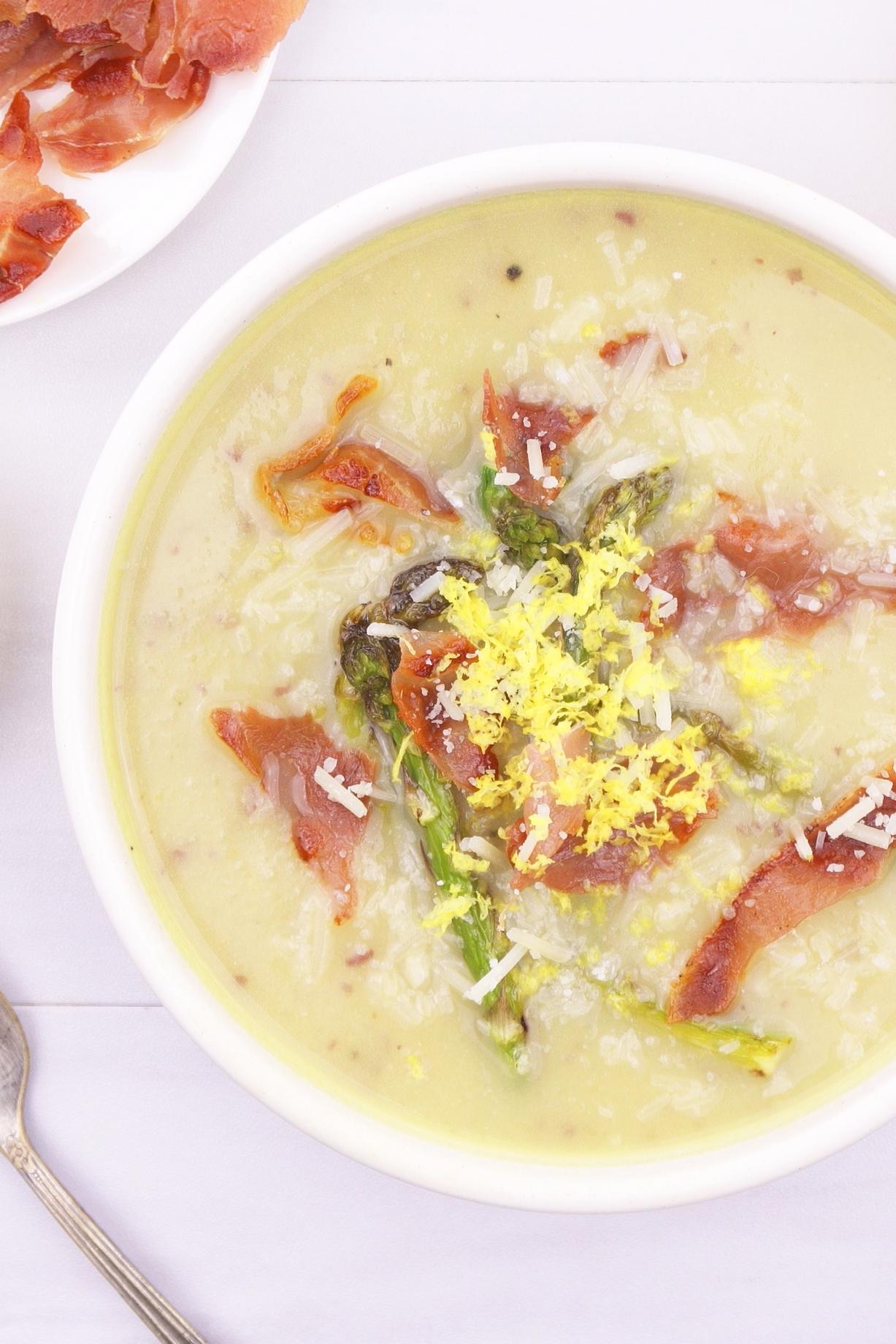 Creamy Asparagus Ends Soup