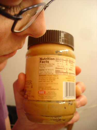 Looking at Peanut Butter (cc license sorakirei)