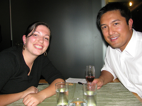 Naomi and Francis at the Foodbuzz dinner at Springhill