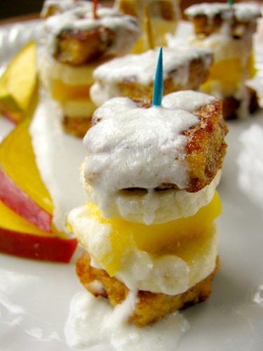 Twelve Grain Tropical Fruit French Toast Bites