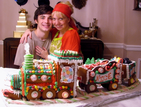 Eric and Diana with gingerbread train