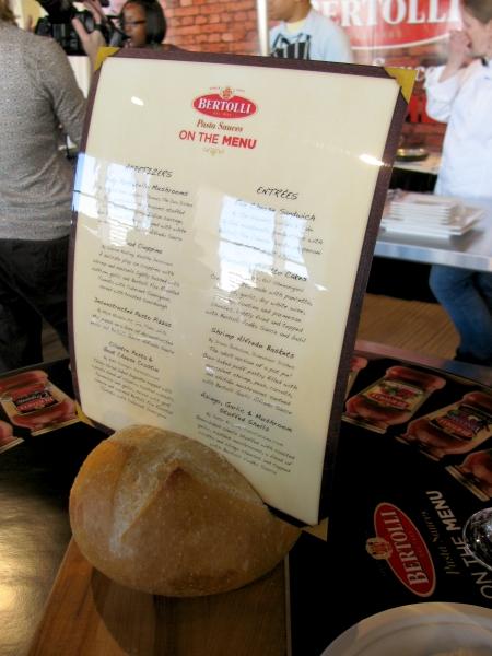Foodbuzz Festival Bertolli Menu