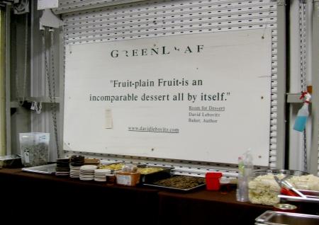 Foodbuzz Festival Greenleaf quote David Lebovitz