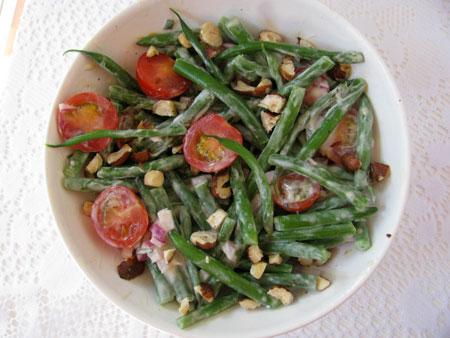 Tomato and Green Bean Salad Recipe with a Creamy Vinaigrette