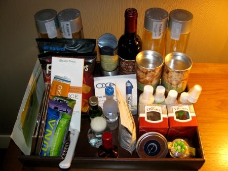 Hotel Vitale minibar tray