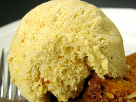 Pumpkin Pie Ice Cream closeup