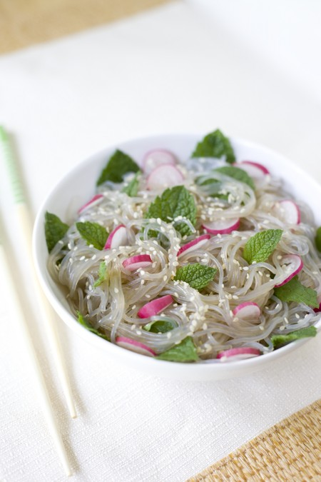 Mint Radish Noodle Salad Recipe