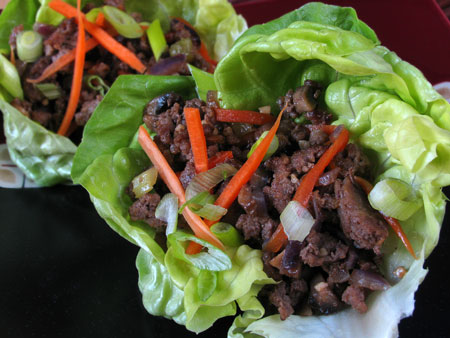 Beef Asian Lettuce Cups