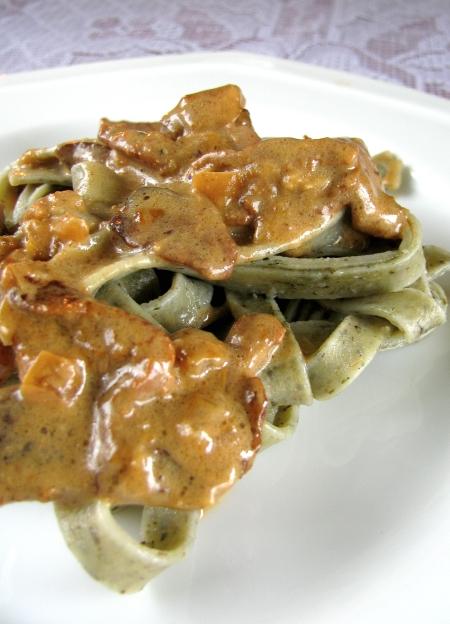 chanterelle sirloin pasta