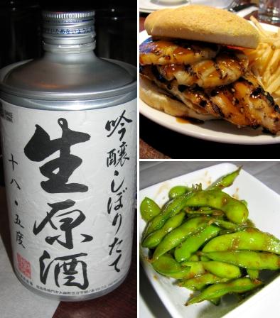 chao bistro sake sandwich edamame