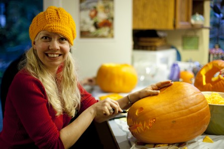 diana-carving-pumpkin