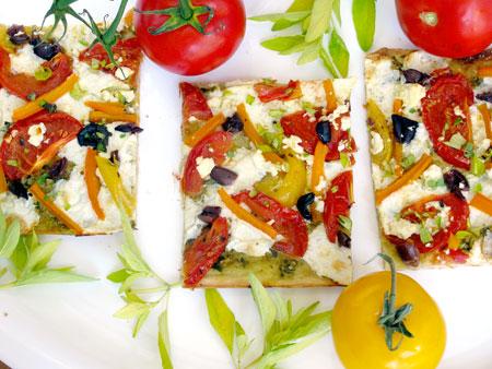 Easy Roasted Tomato Pizza