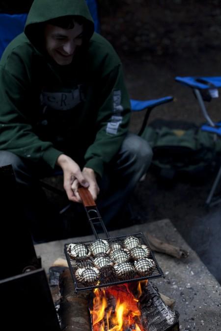 eric-grilling-mushrooms
