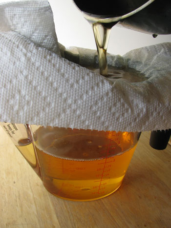 how to get cooking oil out of towels