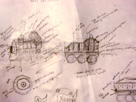 gingerbread blueprints