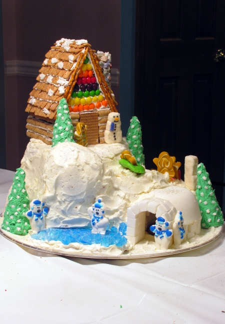 gingerbread igloo land