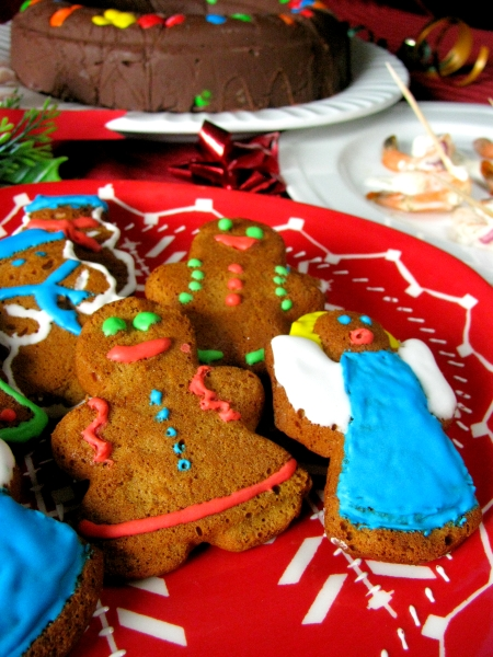 gingerbread plate for Christmas