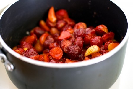 This strawberry conserve recipe is a soft set jam with whole berries and a great way to preserve summer's strawberries. You won't believe how easy it is! From EatingRichly.com