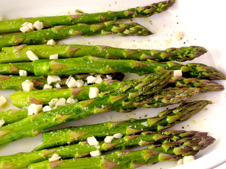 below is the recipe for basic roasted asparagus my favorite