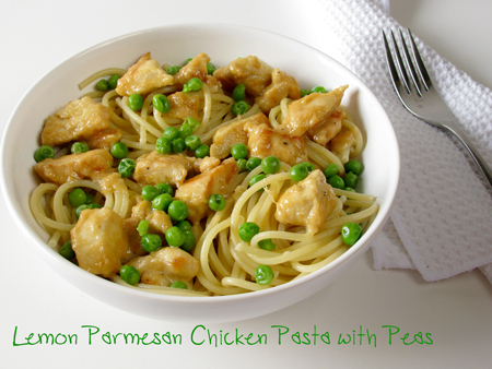 Chicken Pasta Recipe with Lemon Parmesan Sauce (on a Food Stamp Budget)