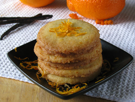 Vanilla Orange Shortbread Cookie Recipe