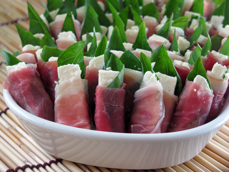 easy party appetizers appetizer feta prosciutto rolls 10257