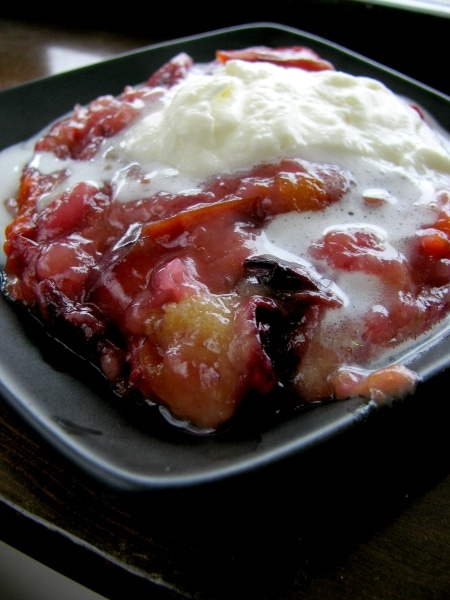 plum cobbler or pudding