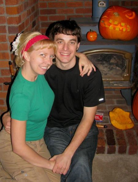 Pumpkin Carving Couple