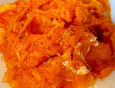 Pumpkin Guts for Pumpkin Bread
