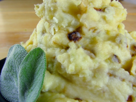 sage brown butter mashed potatoes
