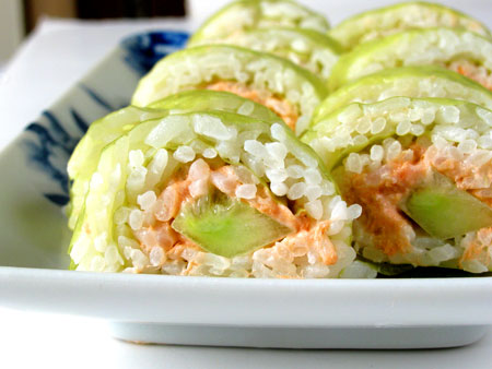 Salmon Cucumber Sushi Roll Recipe (The Patti Roll)