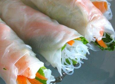 Thai Shrimp Rolls, Vietnamese Spring Rolls, Summer Rolls