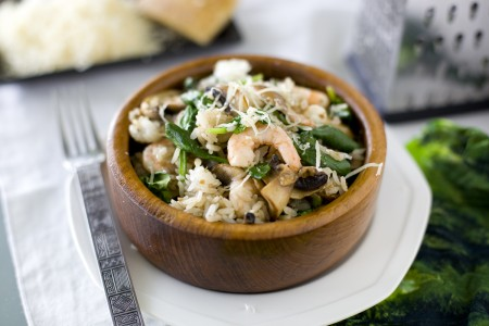 shrimp-spinach-mushroom-rice-recipe