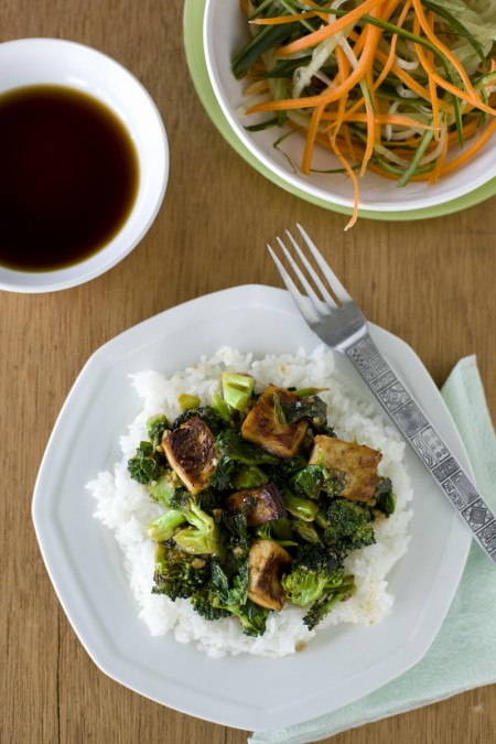 Broccoli, Kale and Tofu Stir Fry Recipe