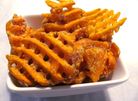 waffle cut sweet potato fries chao bistro