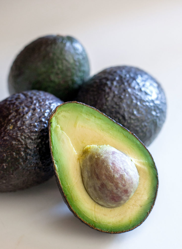 Fresh Avocados Half and Whole