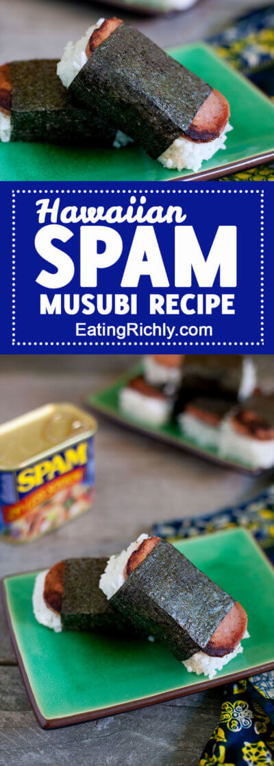 This SPAM musubi recipe is an easy Hawaiian style snack that's as simple as it is delicious. Perfect for snacking on the go!
