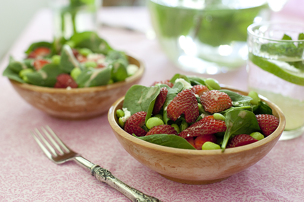 Strawberry Edamame Salad Recipe