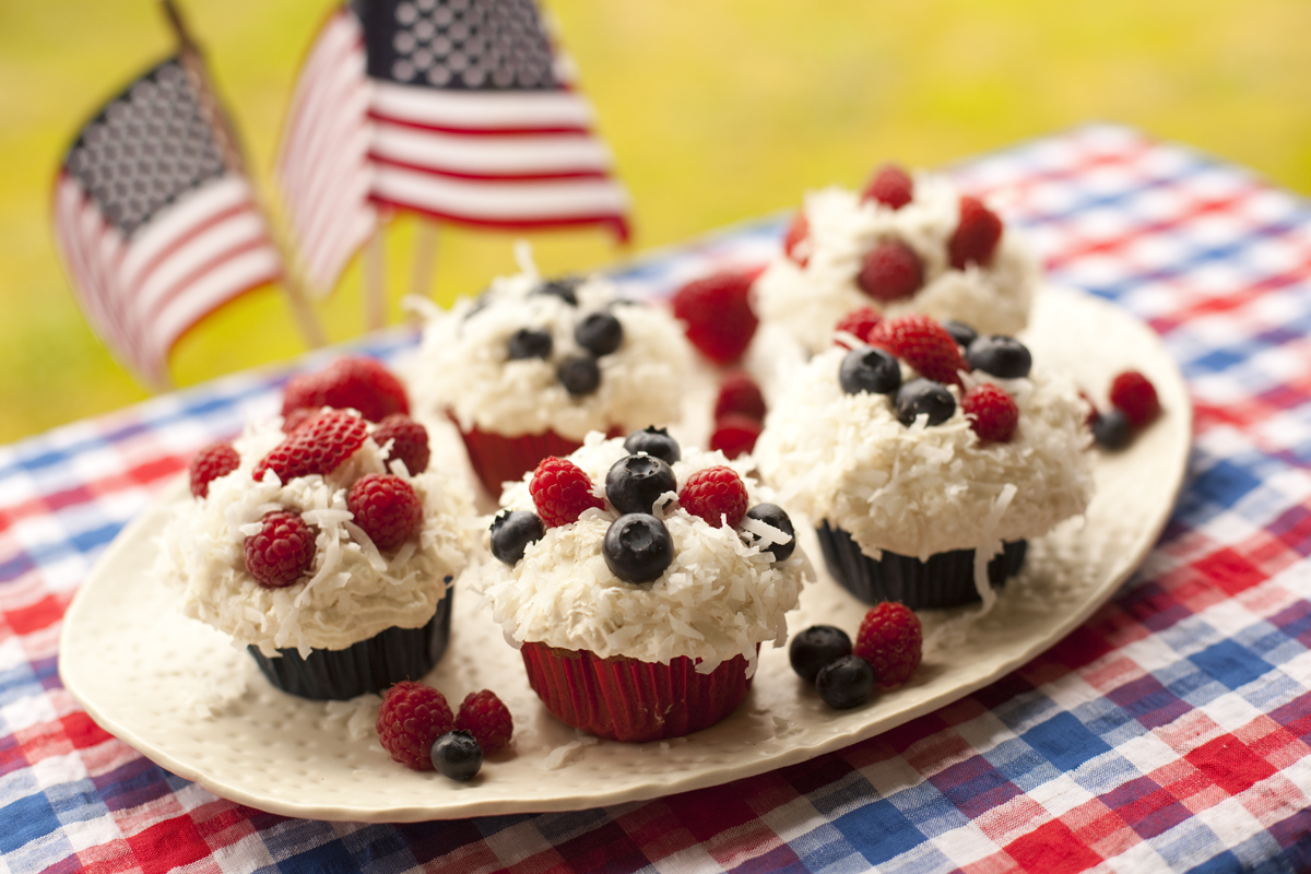 4th of July Whole Wheat Cupcake Recipe